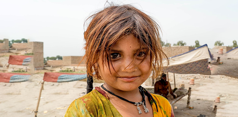young girl in camp