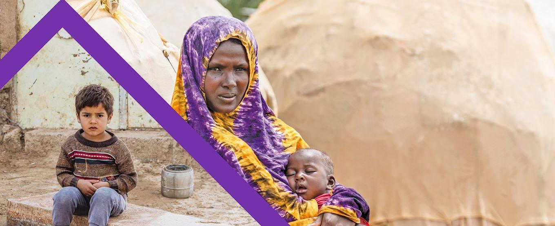 Somalia baby and orphaned little boy