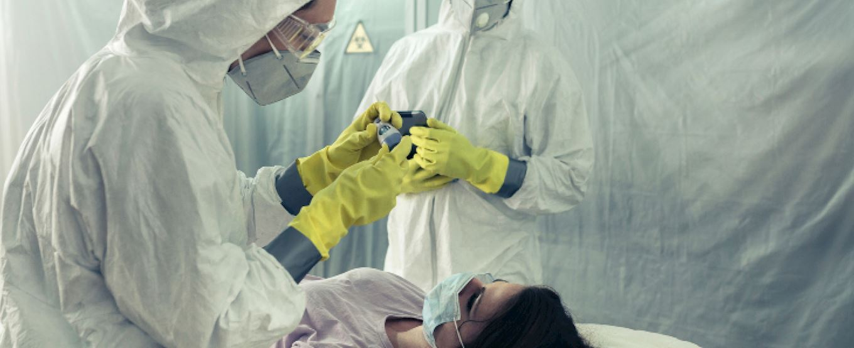 Medics with a patient