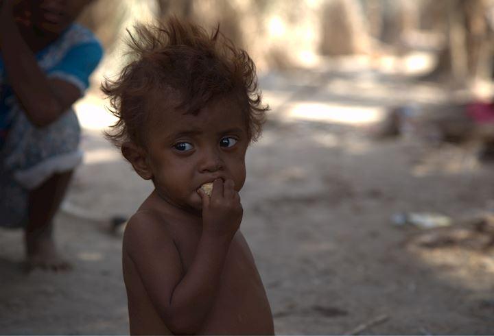 Young child in Yemen