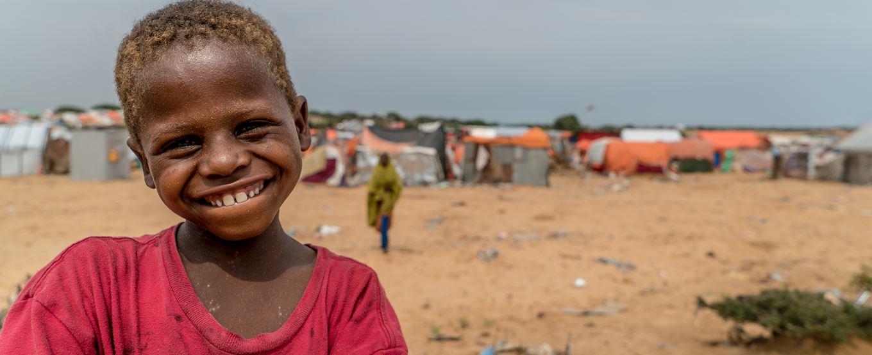 Young Somalian child smiling