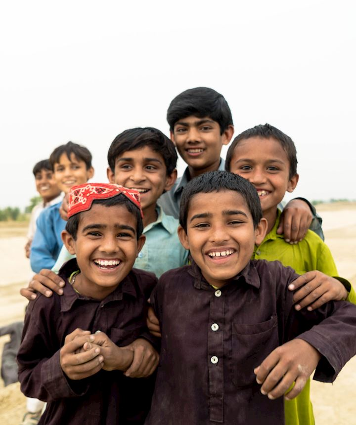 Group of smiling children in Pakistan
