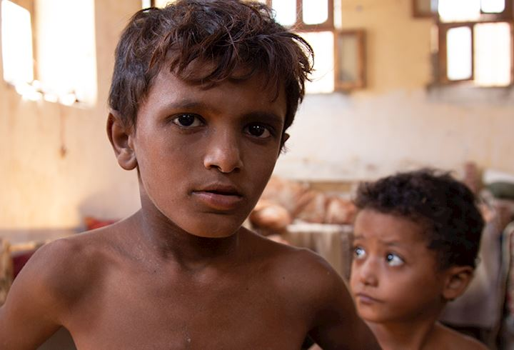 Two small boys in Yemen