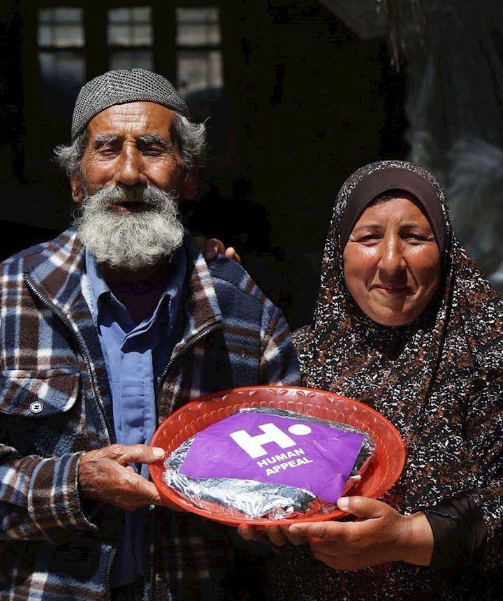 Palestinian family with their Qurbani