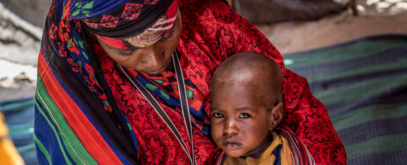 Somalian mother with her child