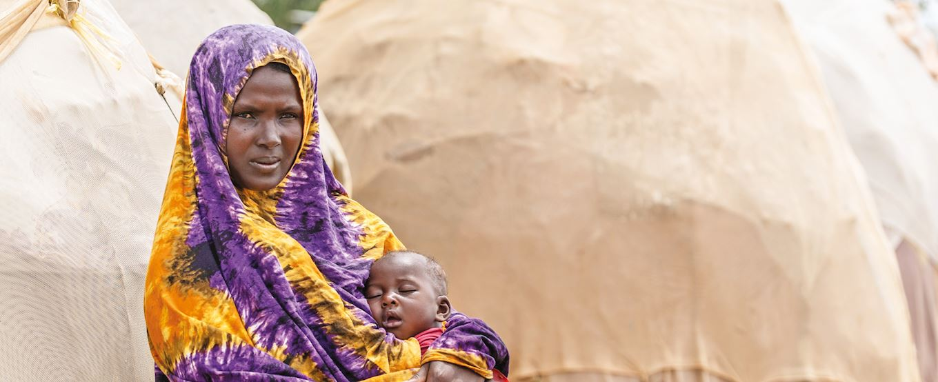 Somalia lady with her child
