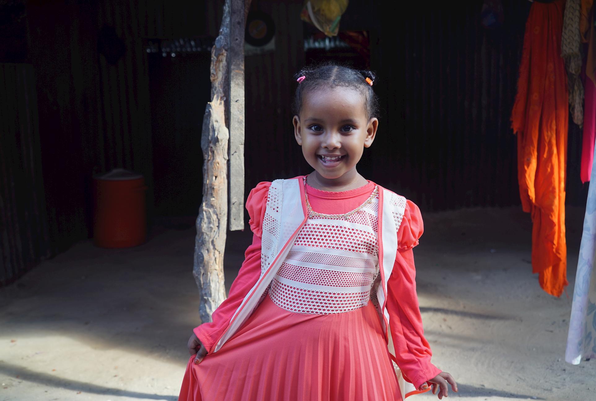 Four-year-old orphan, Nafisa