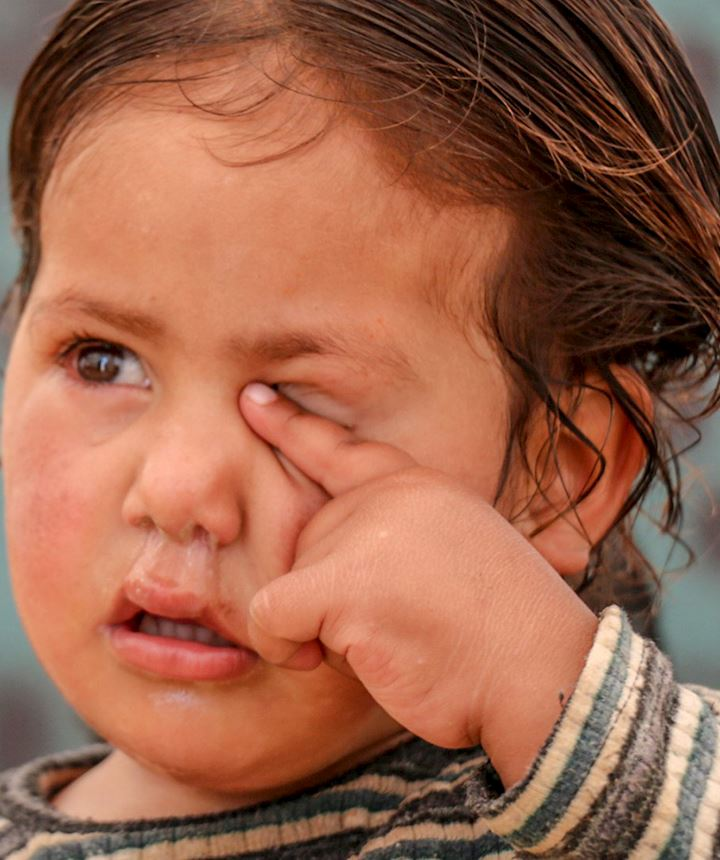 small child crying