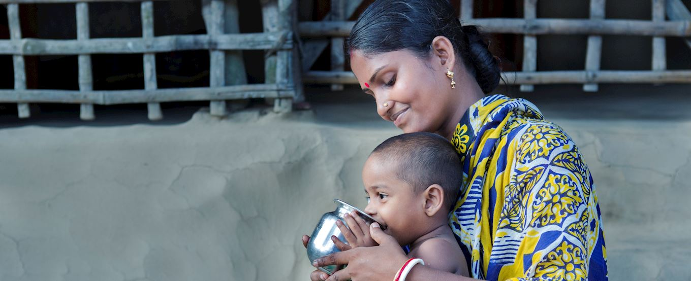 Bangladeshi lady and her baby