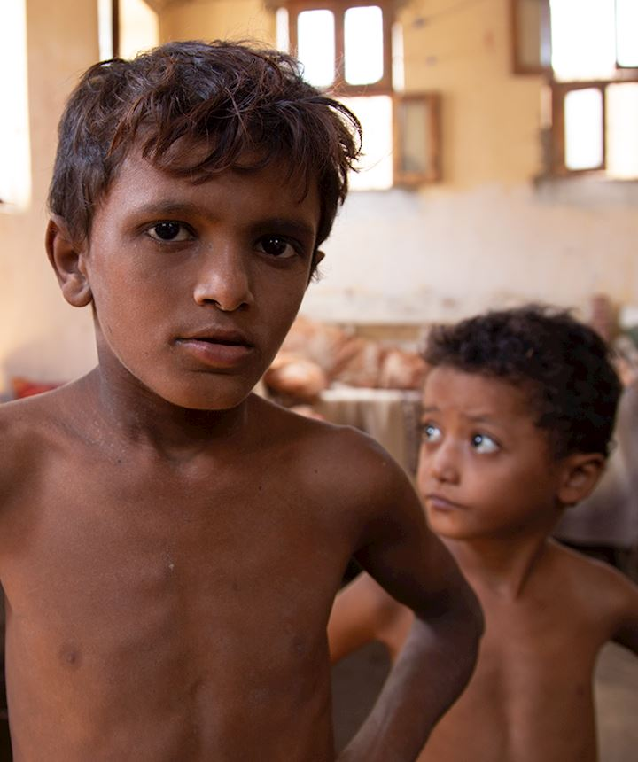Two small boys in Yemen
