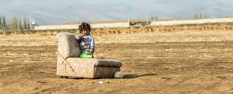Small child in syria
